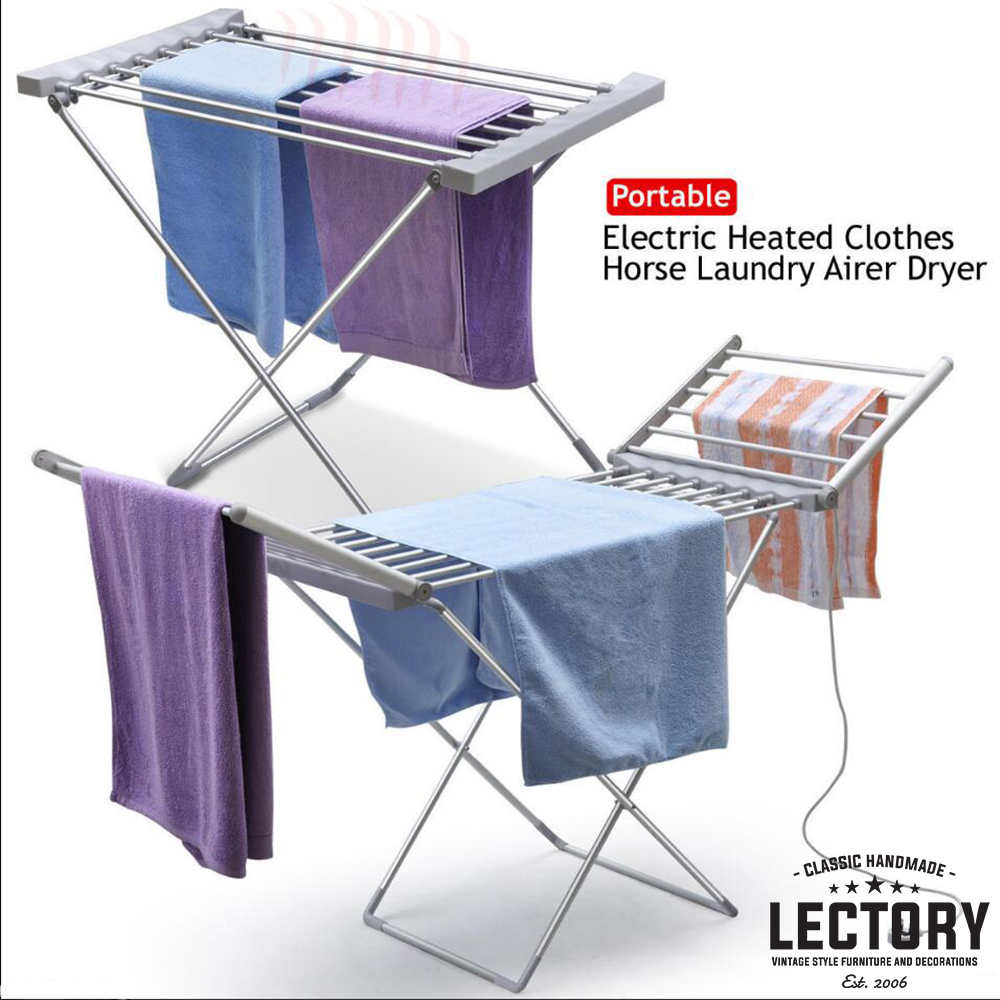 Portable Electric Heated Clothes Airer Folding Indoor