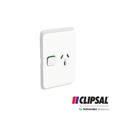 Single Switch Socket Outlet, Vertical Mount, 250V, 10A