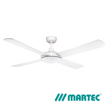 Lifestyle DC Ceiling Fan | 1.3m 4 Blade LED Dimmable Light | White