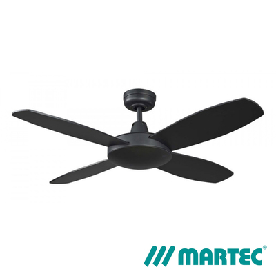 Lifestyle AC Ceiling Fan | 1m Mini 4 Blads LED Dimmable Light | Mattblack