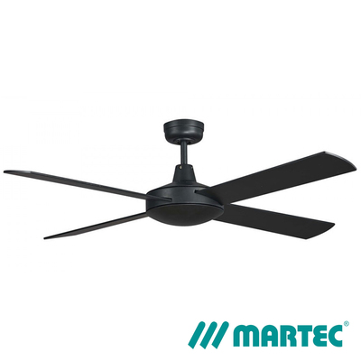 Lifestyle AC Ceiling Fan | 1.3m 4 Blads LED Dimmable Light | Mattblack
