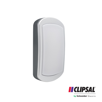 20W Clipsal LED Bulkhead Rectangle |4000K | IP54 Grey Body Outdoor Wall Lamp