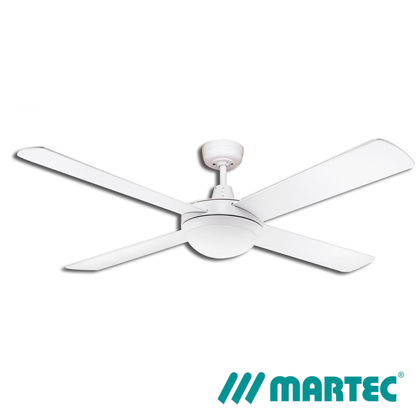 Lifestyle DC 1300mm 4 Blade White Fan Only with DC Motor & Remote