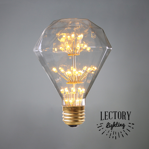 3W LED Fireworks Starry Light Bulb DM85| Vintage Filament Diamond Globes Warm