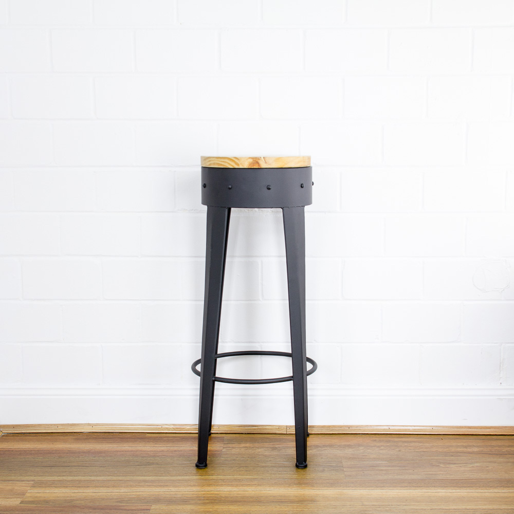 Kitchen Bar Stools Height: Retro Industrial Bar Stools Counter Chair Furniture