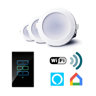 C-tec WIFI Smart Control | 12W Tri Colour Dimmable LED Downlight Bundle
