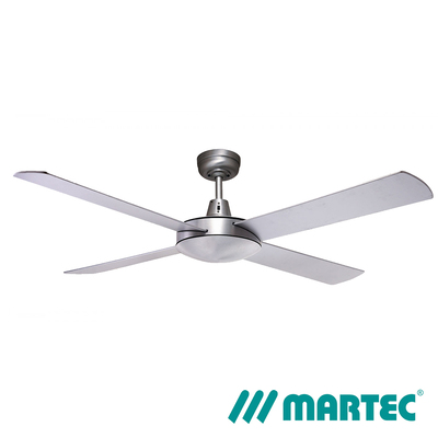 Lifestyle DC Ceiling Fan | 1.3m 4 Blade LED Dimmable Light | Silver
