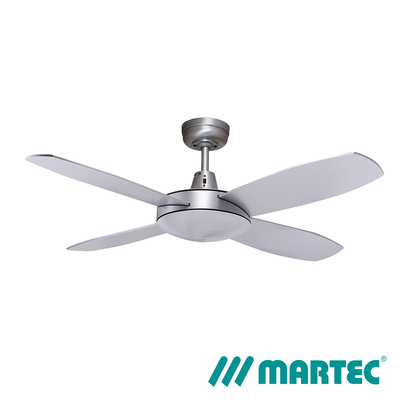Lifestyle AC Ceiling Fan | 1m Mini 4 Blads LED Dimmable Light | Silver