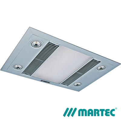 Martec Linear Bathroom Heater Fan | 1000W Silver|  LED