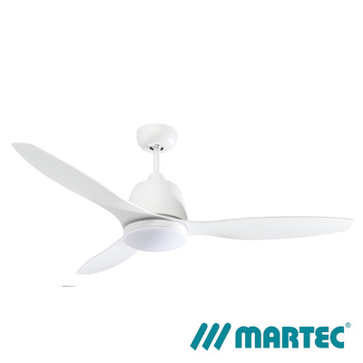 Elite AC Ceiling Fan | White Motor | Tri Colour Dimmable Lamp | 1.3M White Blade
