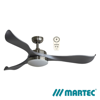 Scorpion DC Ceiling Fan | 1.3M 3 ABS Blade | Tri Colour Dimmable Lamp | Brushed Nickel
