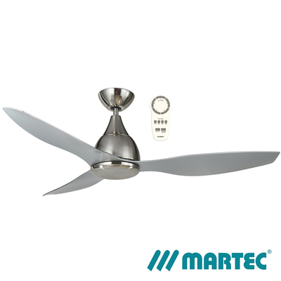 Vantage DC Ceiling Fan | Brushed Nickel Motor | 1.3M Silver Blade
