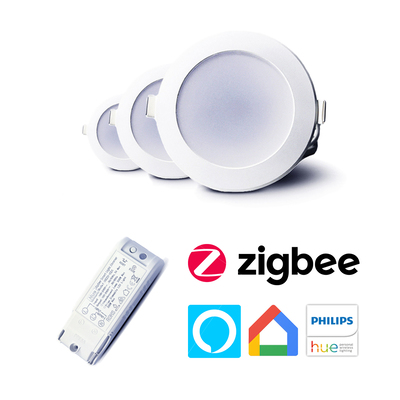 Smart LED Downlight Bundle | In-ceiling Dimmer Switch | App & Voice Control Through Smart Hubs