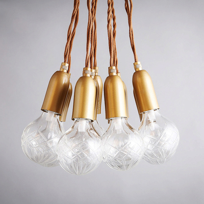 Vintage Pendant Lamp - Crystal Pearl | w/ LED Bulbs 4W | Design Light 80's